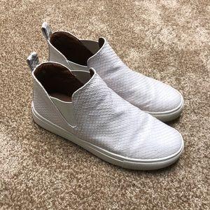 Report white snakeskin Slip on sneakers